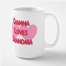 Gianna Loves Grandma Large Mug