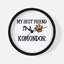 My best friend is a KOMONDOR Wall Clock