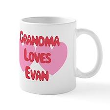 Grandma Loves Evan Mug