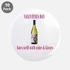 "Valentines love 3.5"" Button (10 pack)"