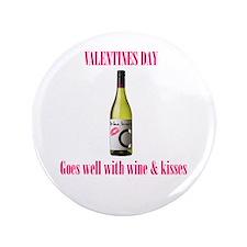 """Valentines love 3.5"""" Button"""