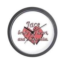 Jace broke my heart and I hate him Wall Clock
