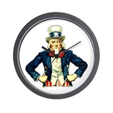 Uncle Sam Disappointed Wall Clock