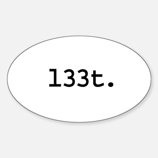 l33t. Oval Decal