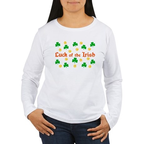"""Luck of the Irish"" Women's Long Sleeve T-Shirt"