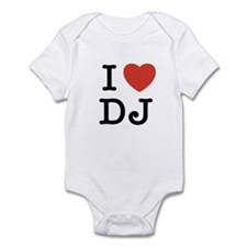 I Heart DJ Infant Bodysuit