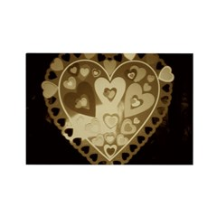 Brown Heart Rectangle Magnet
