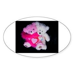 A. Valentine Bears Oval Sticker (50 pk)