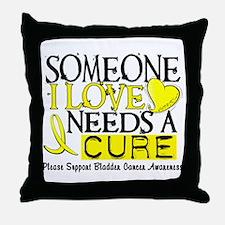 Needs A Cure BLADDER CANCER Throw Pillow