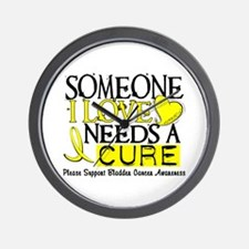 Needs A Cure BLADDER CANCER Wall Clock