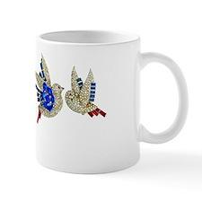Rhinestone Blue Birds Coffee Mug