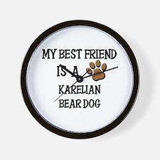 My best friend is a KARELIAN BEAR DOG Wall Clock