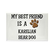 My best friend is a KARELIAN BEAR DOG Rectangle Ma