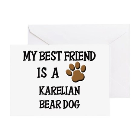 My best friend is a KARELIAN BEAR DOG Greeting Car