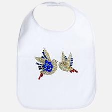 Rhinestone Blue Birds Baby Bling Bib Shower Gift