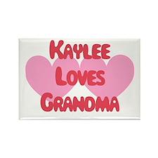 Kaylee Loves Grandma Rectangle Magnet