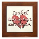 Isabel broke my heart and I hate her Framed Tile