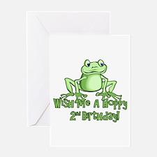 Hoppy 2nd Birthday Greeting Card