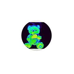 neon bears Mini Button (10 pack)