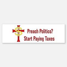 Tax Political Churches Bumper Bumper Bumper Sticker