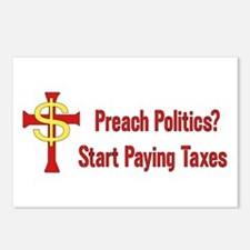 Tax Political Churches Postcards (Package of 8)