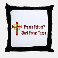 Tax Political Churches Throw Pillow