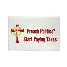 Tax Political Churches Rectangle Magnet (100 pack)