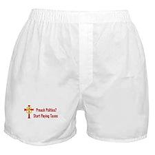 Tax Political Churches Boxer Shorts