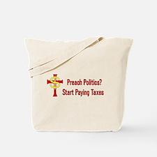 Tax Political Churches Tote Bag