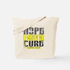 HOPE FAITH CURE Bladder Cancer Tote Bag