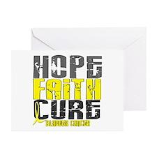 HOPE FAITH CURE Bladder Cancer Greeting Cards (Pk