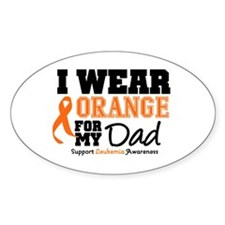 IWearOrange Dad Oval Decal
