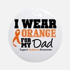 IWearOrange Dad Ornament (Round)