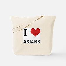 I Love Asians Tote Bag