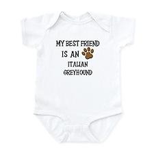 My best friend is an ITALIAN GREYHOUND Infant Body