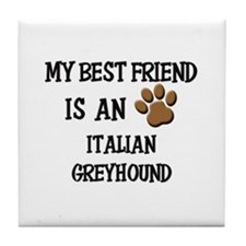 My best friend is an ITALIAN GREYHOUND Tile Coaste