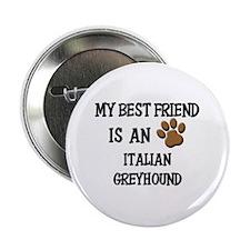 "My best friend is an ITALIAN GREYHOUND 2.25"" Butto"