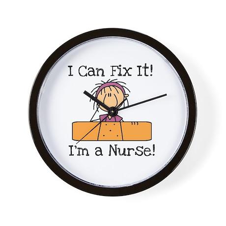 Fix It Nurse Wall Clock by my_stick_figure