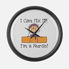 Fix It Nurse Large Wall Clock