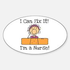 Fix It Nurse Oval Decal