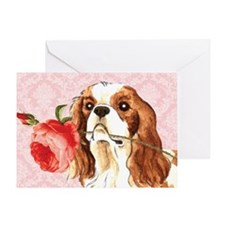 Cavalier Rose Greeting Card