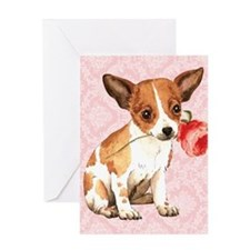 Chihuahua Rose Greeting Card