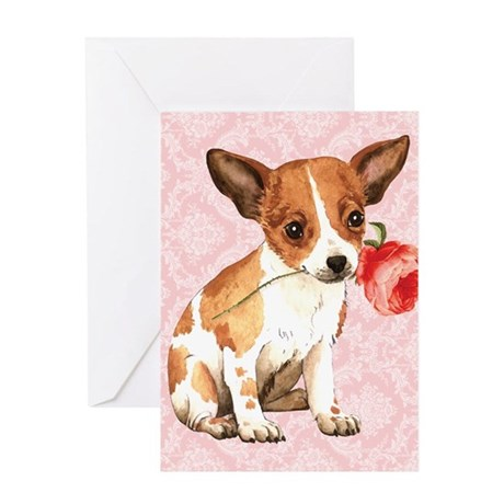 Chihuahua Rose Greeting Card