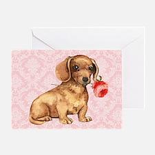 Dachshund Rose Greeting Card