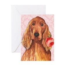 Irish Setter Rose Greeting Card