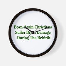 Born-Again Brain Damage Wall Clock