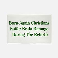 Born-Again Brain Damage Rectangle Magnet