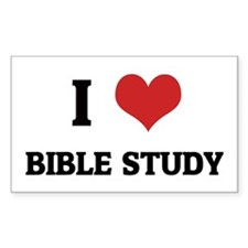 I Love Bible Study Rectangle Decal