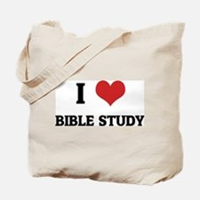 I Love Bible Study Tote Bag