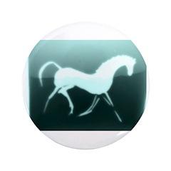 "aqua horse 1. 3.5"" Button"